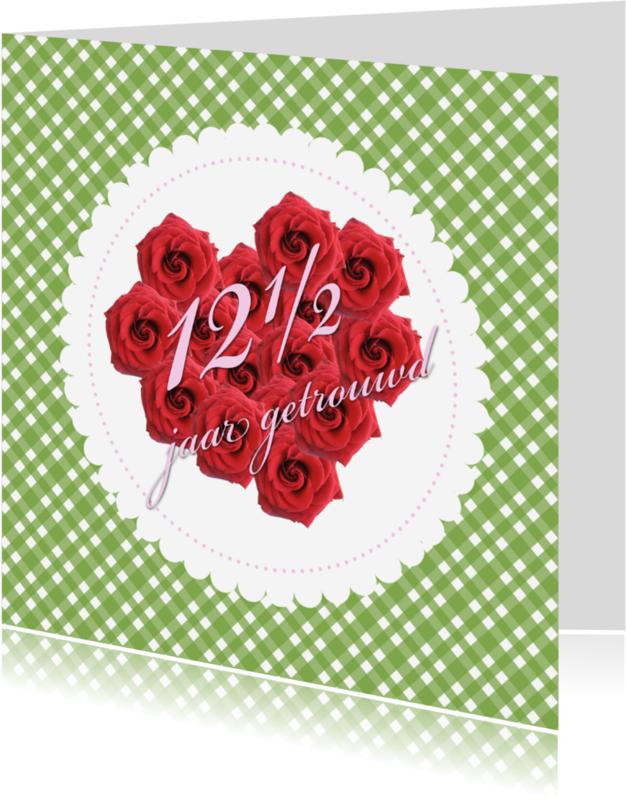 Jubileumkaarten - 12 en half jaar getrouwd