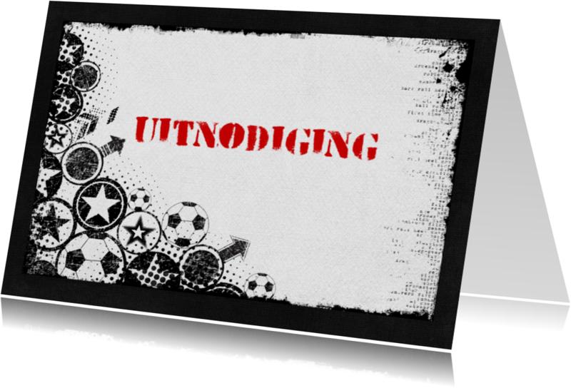 Kinderfeestjes - 12024 Uitnodiging voetbalfeest