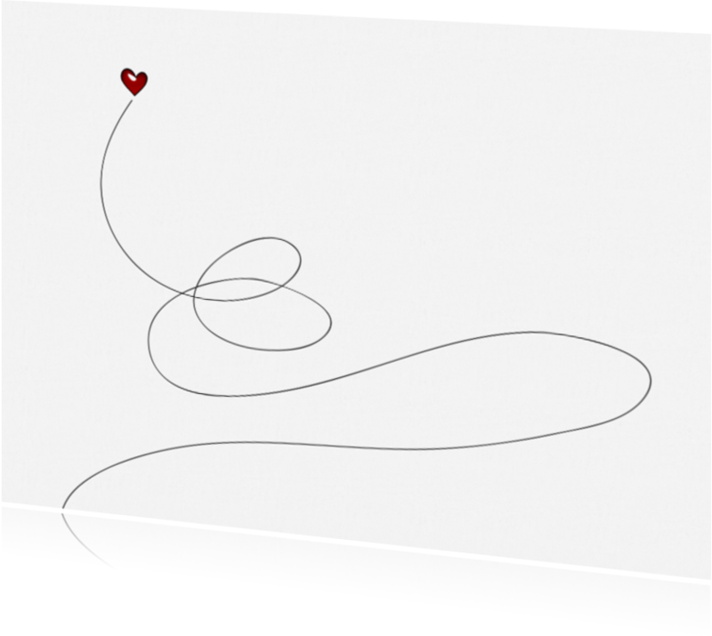 Liefde kaarten - 13068 Liefde kaart Swirl