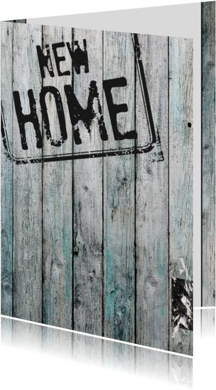 Felicitatiekaarten - 15288 Stempel new home