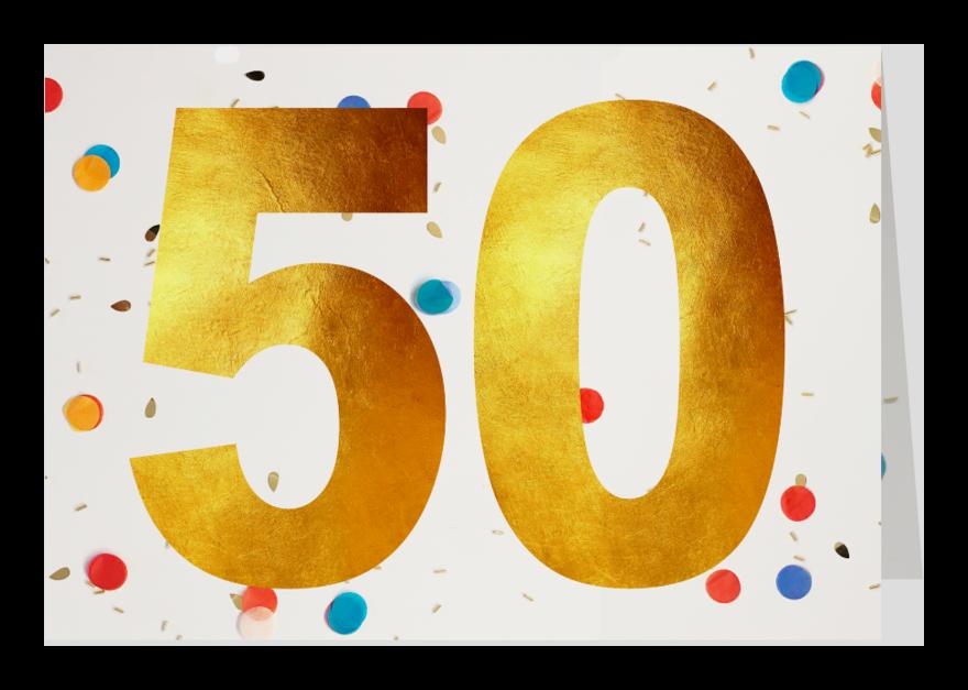 Verjaardagskaarten - 50 felicitatie confetti