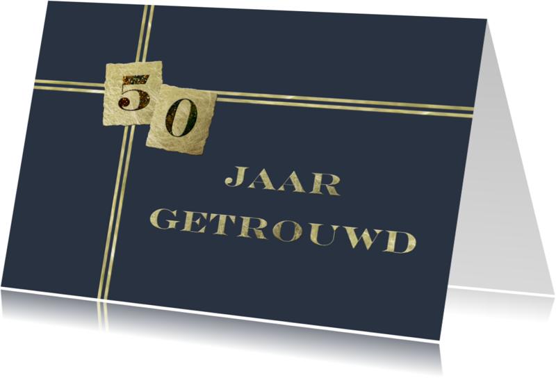 Jubileumkaarten - 50 jaar getrouwd stijlvol