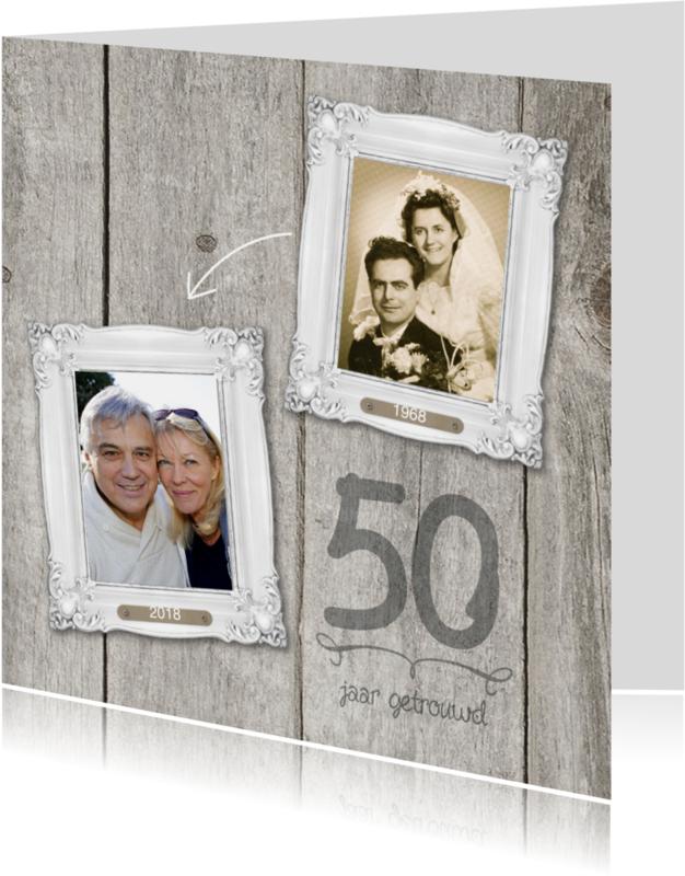 Jubileumkaarten - 50 jaar huwelijk fotolijstjes