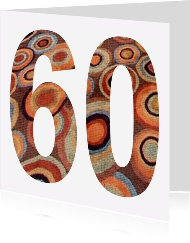Felicitatiekaarten - 60 Cijfer Mozaïekringen - AW
