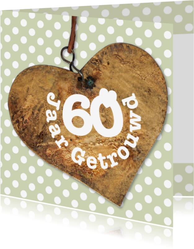 Jubileumkaarten - 60 jaar getrouwd jubileumkaart