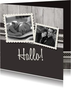 Geboortekaartjes - Antraciet adoptie - BK