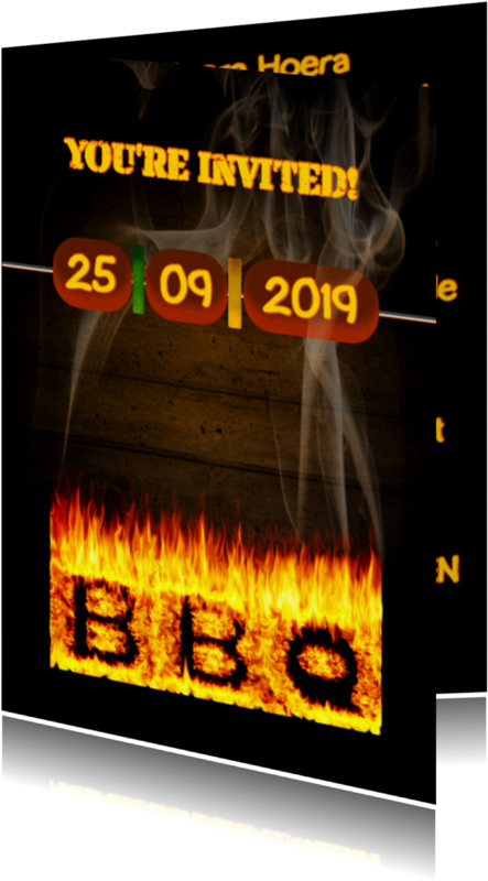 Uitnodigingen - BBQ feest zelf invullen 1