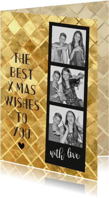 Kerstkaarten - Best wishes fotokaart-BF