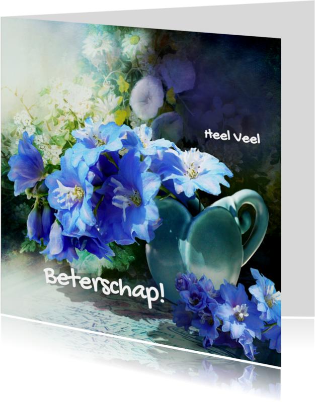 Beterschapskaarten - Beterschap Blauwe Bloemen - SG