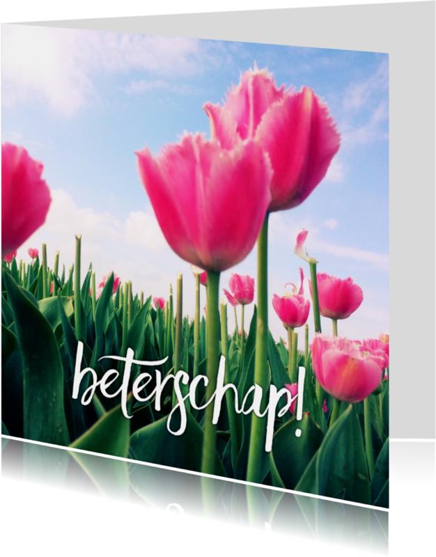 Beterschapskaarten - beterschapskaart tulpen V - LB