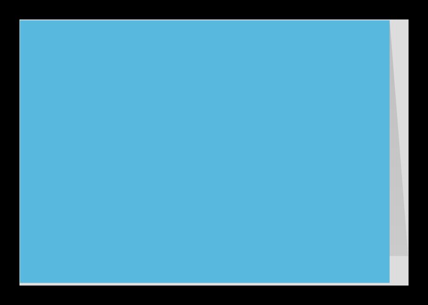 Zomaar kaarten - Blauw dubbel liggend