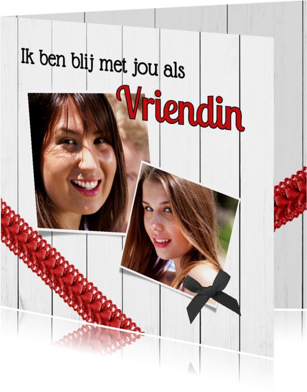 Vriendschap kaarten - Blij met jou als vriendin - DH