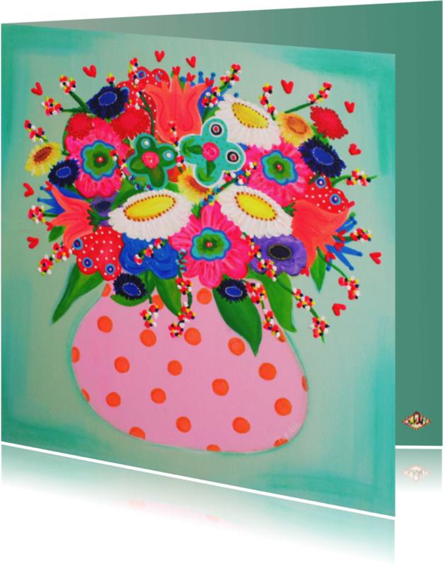Bloemenkaarten - Bloemenkaart Pastel PA