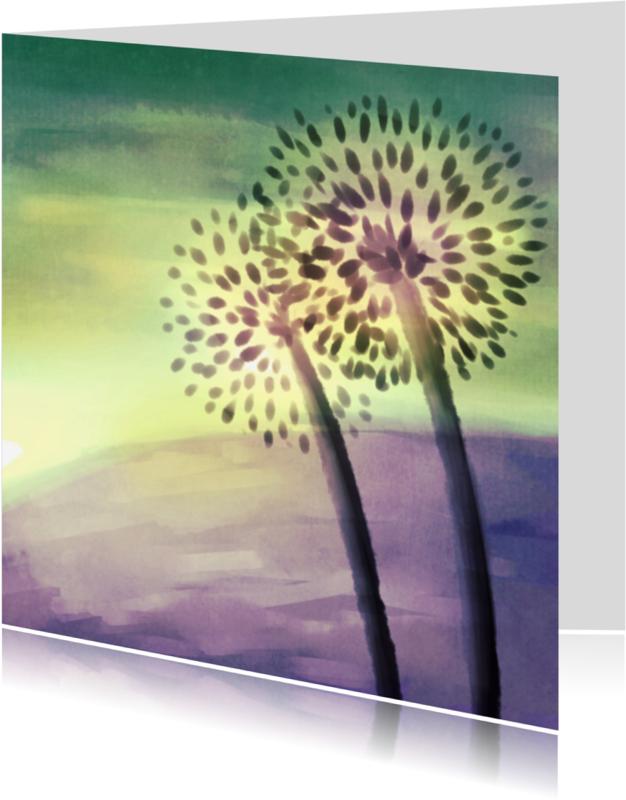 Condoleancekaarten - Bloemsilhouet