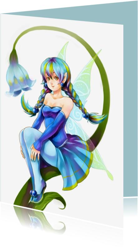 Verjaardagskaarten - Blue Fairy
