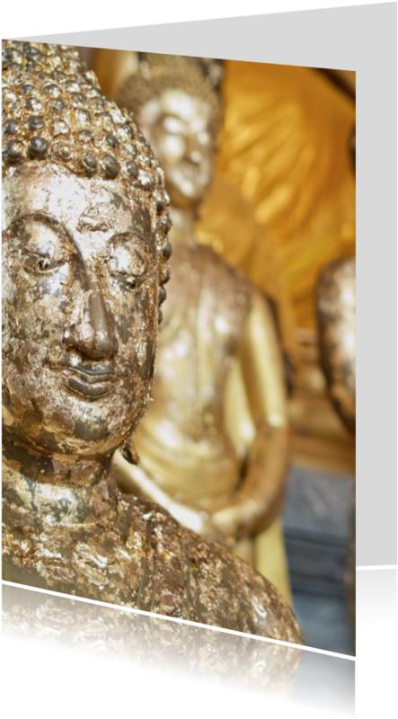 Religie kaarten - Boeddha met bladgoud