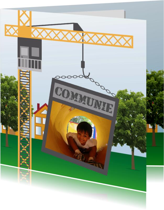 Communiekaarten - Bouwkaart Communie - Remco