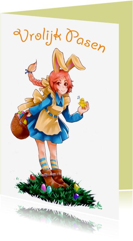 Paaskaarten - Bunnygirl