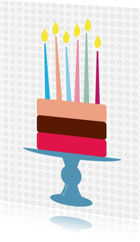 Verjaardagskaarten - cake
