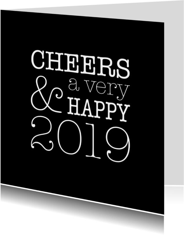 Nieuwjaarskaarten - Cheers nieuwjaarskaart
