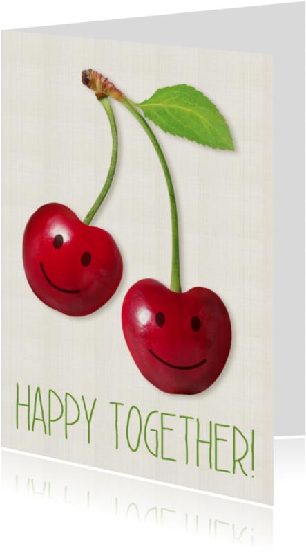 Samenwonen kaarten - Cherry Happy together