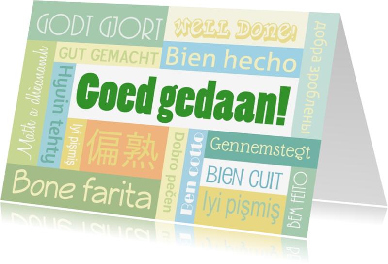 Coachingskaarten - Coaching Goed gedaan meertalig