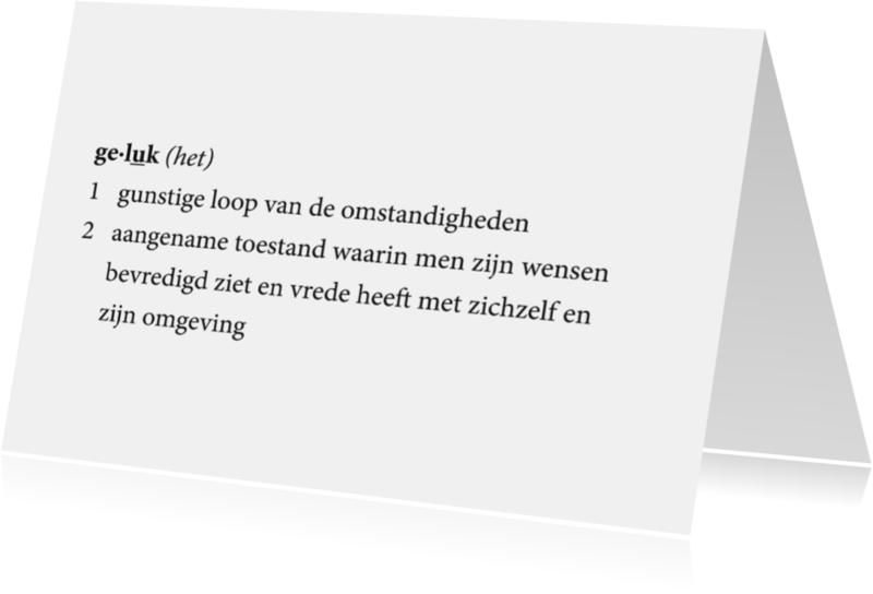 Coachingskaarten - Coaching Woordenboek Geluk