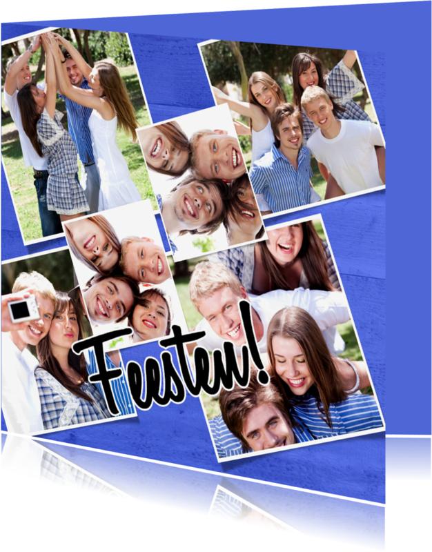 Uitnodigingen - Collage Feesten! 7 foto's - BK
