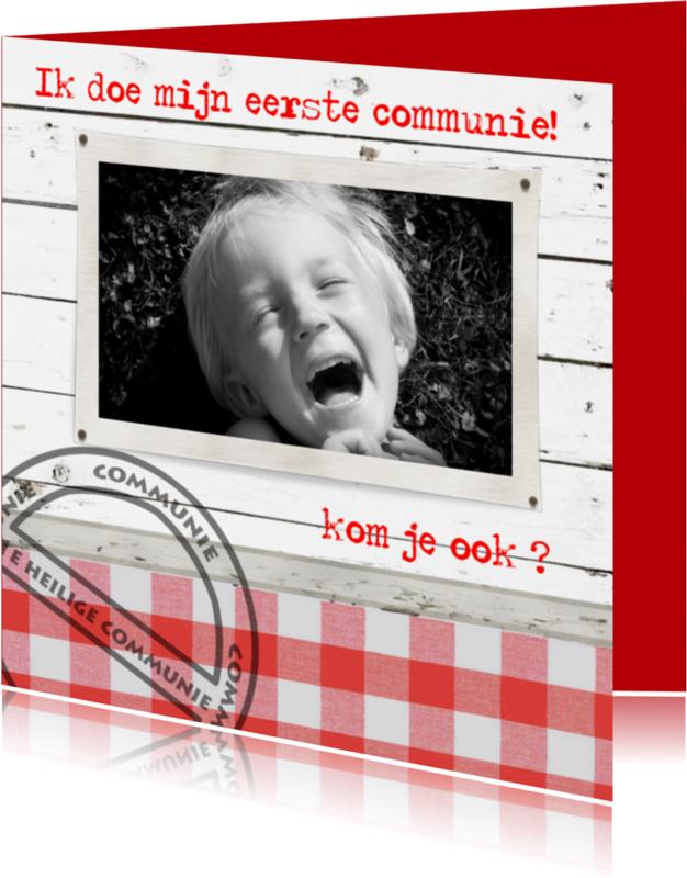Communiekaarten - communie jongen-made4you