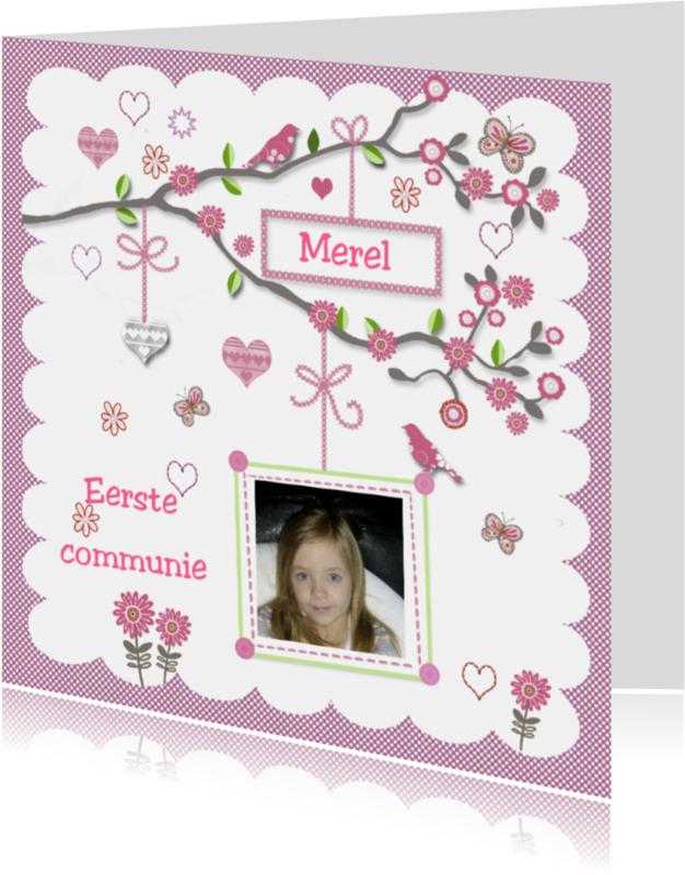 Communiekaarten - Communie met takje
