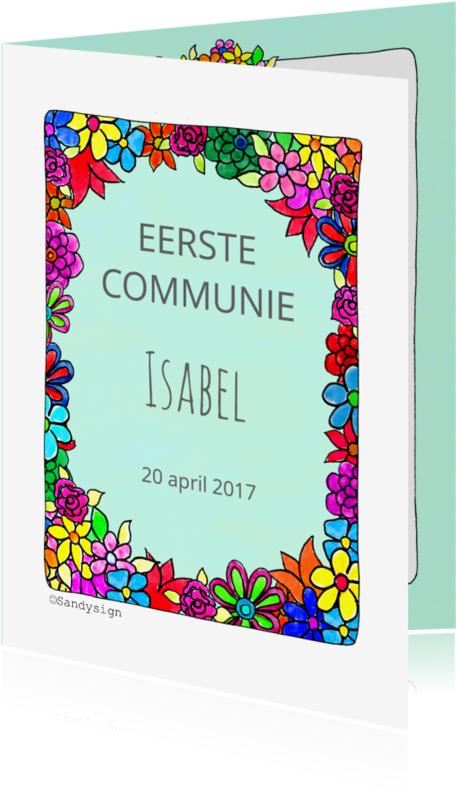 Communiekaarten - Communiekaart bloemen - SD