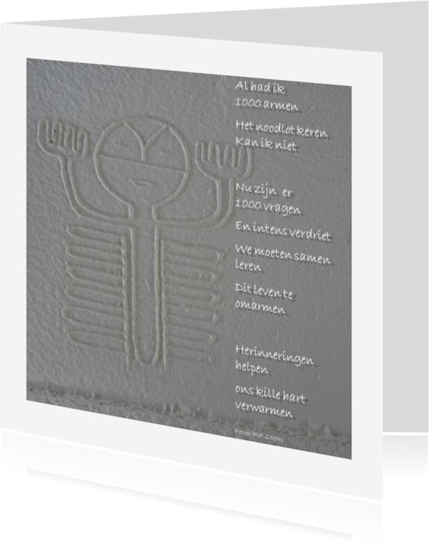 Condoleancekaarten - Condoleance 1000 armen - AW