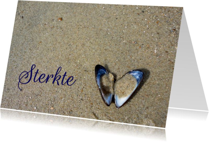 Condoleancekaarten - Condoleance kaart met een hart