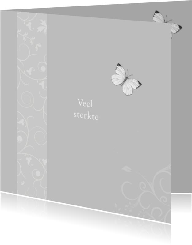 Condoleancekaarten - condoleance sterkte vlinder