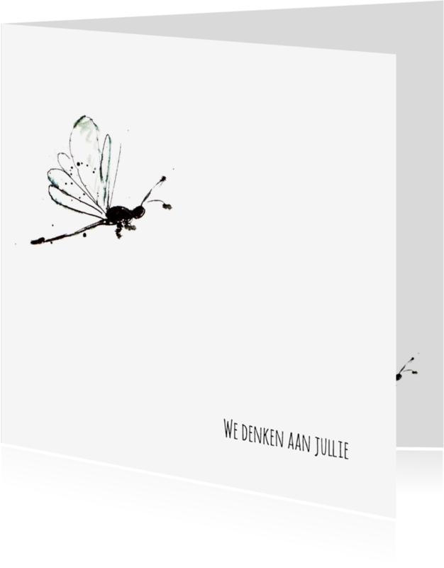 Condoleancekaarten - Condoleancekaart libelle