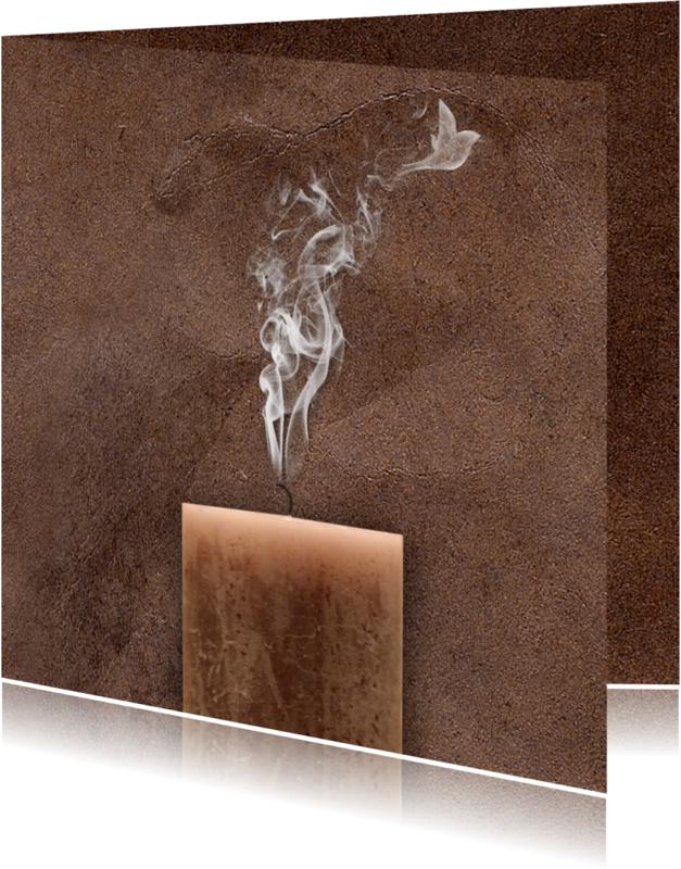 Condoleancekaarten - Condoleancekaart rook en vogel
