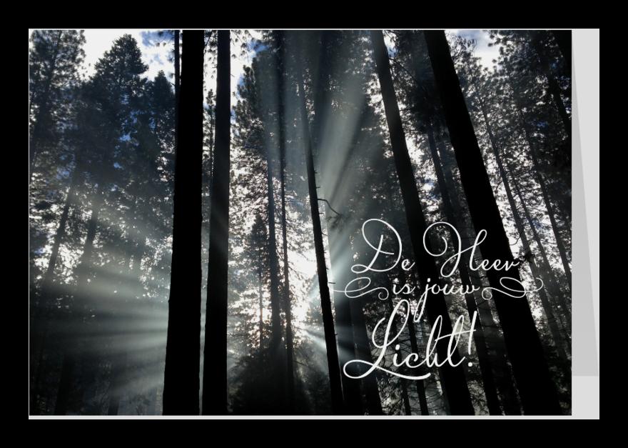 Religie kaarten - De Heer is jouw licht