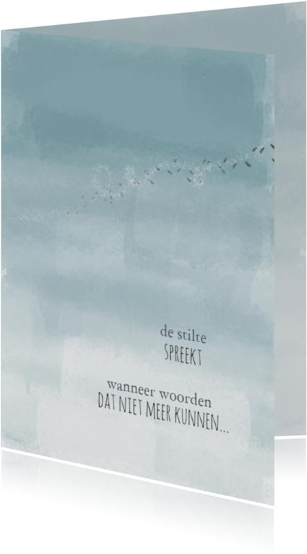 Condoleancekaarten - De stilte spreekt