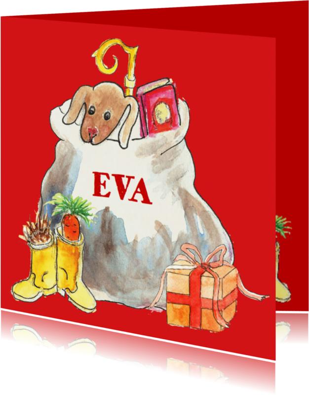 Sinterklaaskaarten - De zak van Sinterklaas met naam