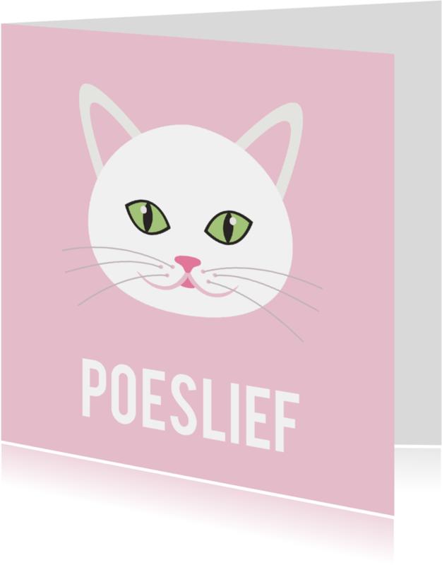 Liefde kaarten - dierenkaart poeslief ME