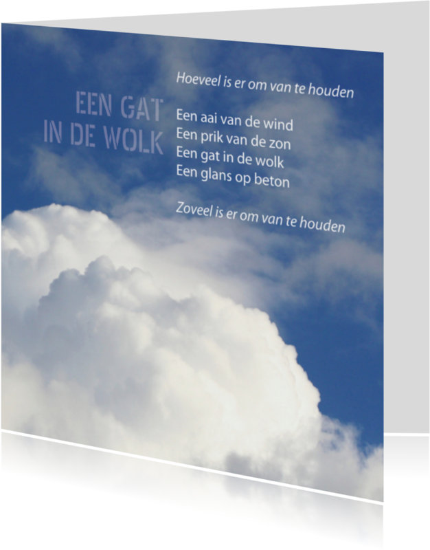 Coachingskaarten - Een gat in de wolk