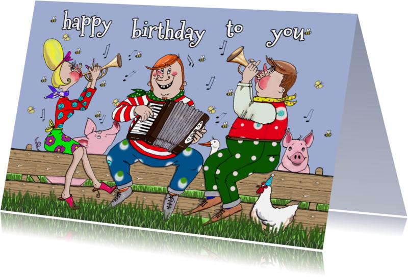 Verjaardagskaarten - Een vrolijke deun