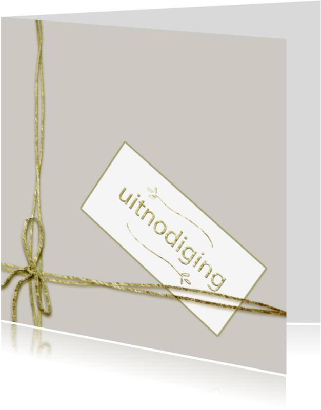 Uitnodigingen - eenvoudige stijlvolle uitnodiging