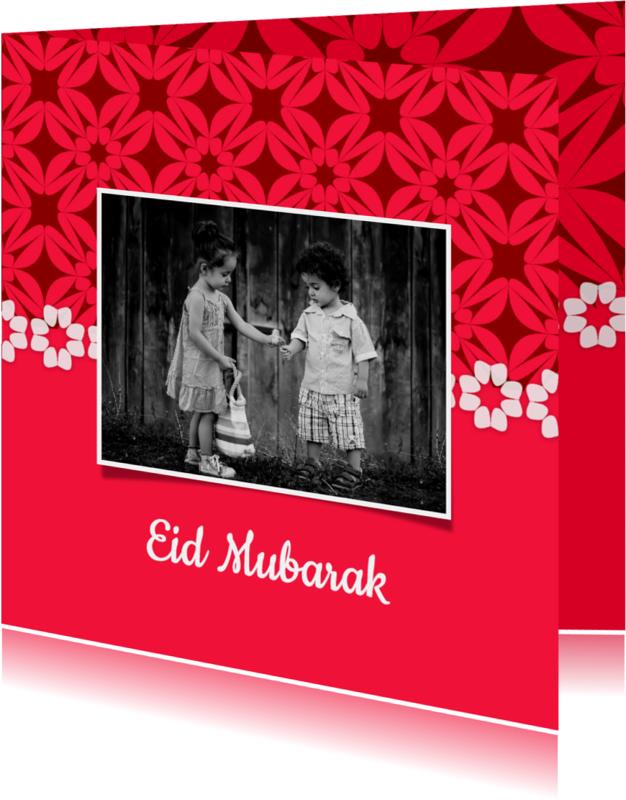 Religie kaarten - Eid Mubarak met patroon - DH