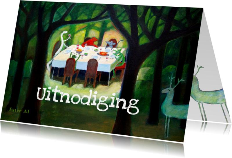 Kinderkaarten - Eten in het bos