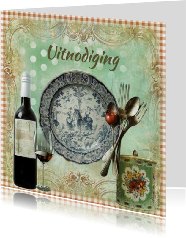 Uitnodigingen - Etentje uitnodiging diner