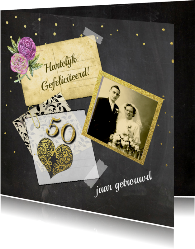 Felicitatiekaarten - Felicitatie jubileum vijftig