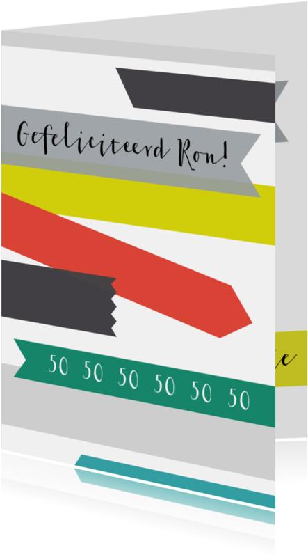 Jubileumkaarten - Felicitatie-Tape rechthoek-HK