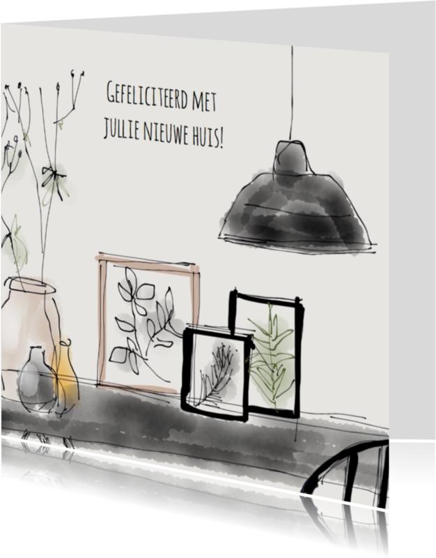 Felicitatiekaarten - Felicitatiekaart Interieur