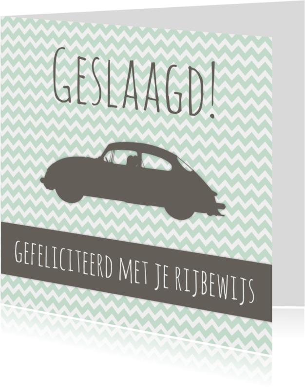 Geslaagd kaarten - Felicitatiekaartje Rijbewijs -WW